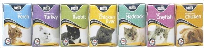 лінійка кормів для кішок бозіта